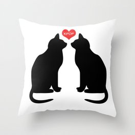 KPOP Cats Love Throw Pillow