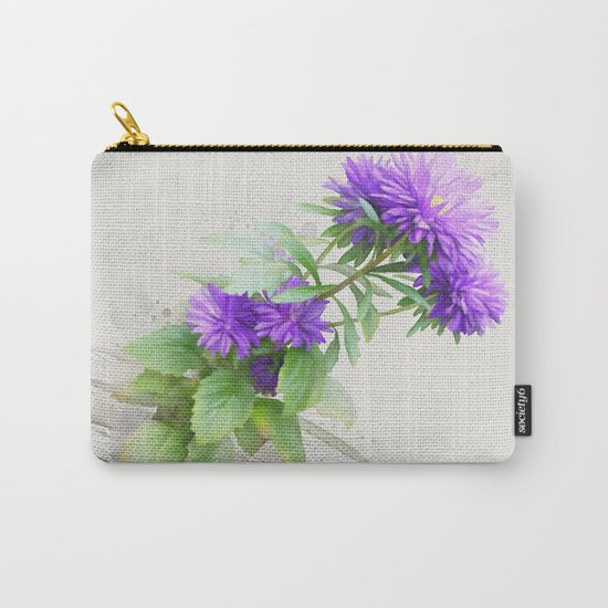 Purple Flowers, watercolors Carry-All Pouch