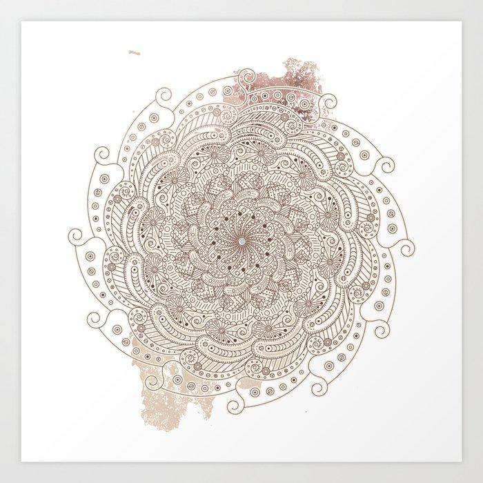 Round ornament Art Print