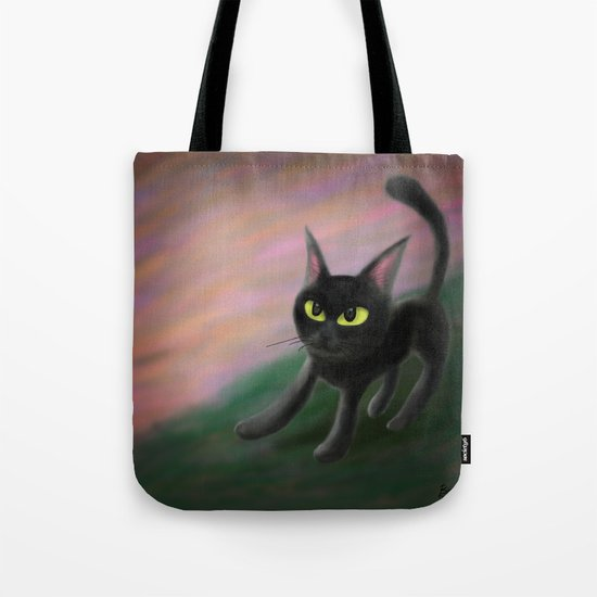 Kitty in riverside Tote Bag