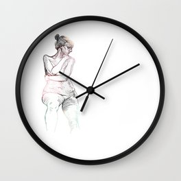 Liberate Yourself - Figure Study Wall Clock