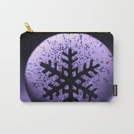 Snowflake Snow Globe Carry-All Pouch