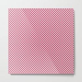 Honeysuckle and White Polka Dots Metal Print