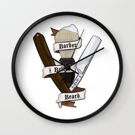 Barber a Better Beard Wall Clock