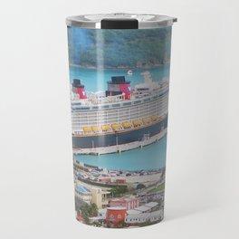 View of our ship Tortola Travel Mug