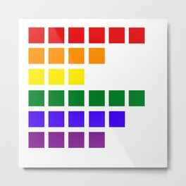 Rainbow Graphic Equalizer Metal Print