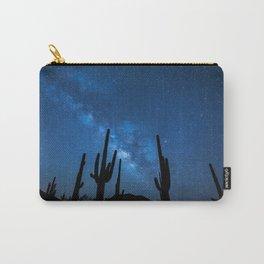 Joshua Tree, Mojave Desert Under Stars, Night Carry-All Pouch