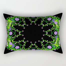 Abstract floral background Rectangular Pillow