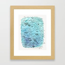 Cloudy Framed Art Print