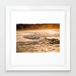 Bondi surf morning Framed Art Print