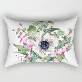 Gentille watercolor handpainted clipart, floral, flower, design, stylish, wedding, invitation Rectangular Pillow