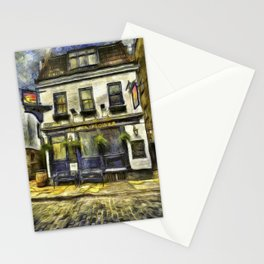 The Mayflower Pub London Van Gogh Stationery Cards