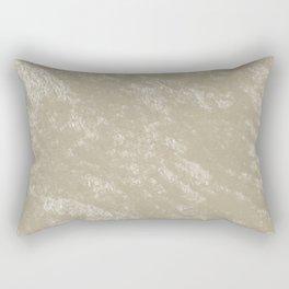 White gold velvet Rectangular Pillow