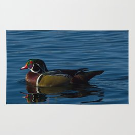 Colorful Wood Duck Rug