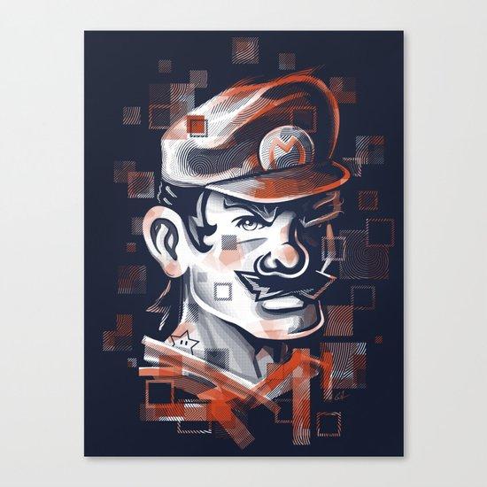 Depixelization M Canvas Print