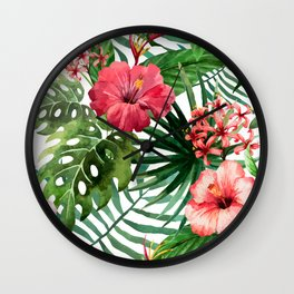FLOWERS WATERCOLOR 8 Wall Clock