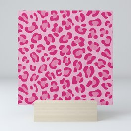 Leopard - Lilac and Pink Mini Art Print