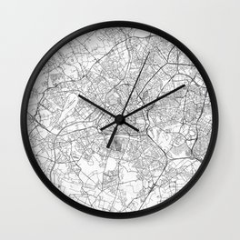 Lille Map Line Wall Clock