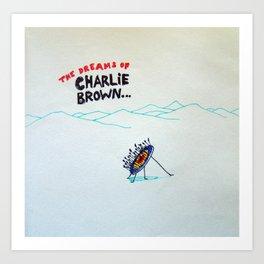 Dreams of Charlie Brown Art Print