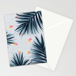 Unique Delicate Tropical Leaves Pattern Stationery Cards
