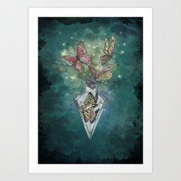 Butterfly Bottle Art Print