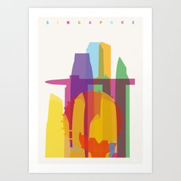 Shapes of Singapore. Art Print