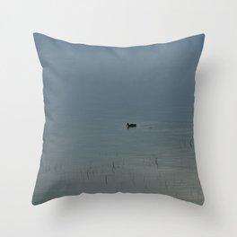 Morning Blue: Mallard Throw Pillow