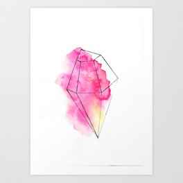 Rasberry Diamond Art Print