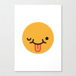 Emojis: Crazy face Canvas Print
