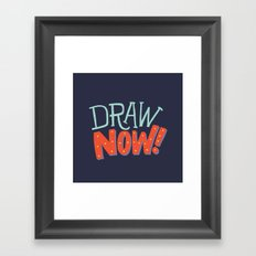 DRAW NOW Framed Art Print