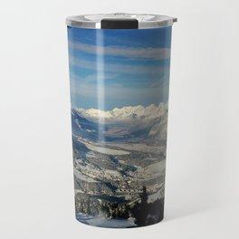 Innsbruck In Winter From Patscherkofel Mountain Travel Mug