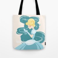 cinderella Tote Bags featuring Cinderella by LindseyCowley