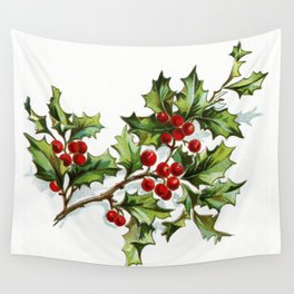 Holly Berries 20171001 by JAMFoto Wall Tapestry