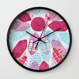Patchwork-Collage Love Wall Clock
