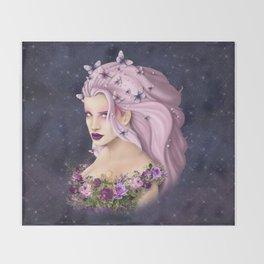 Lilac Summer Throw Blanket