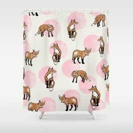 fox dots Shower Curtain