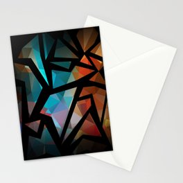 Abstract background of triangles polygon print. Stationery Cards