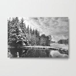 Elterwater Snow Metal Print