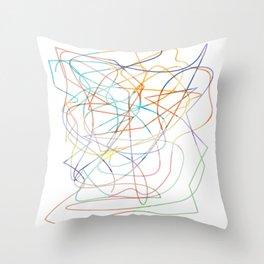 abstract pen tool Throw Pillow