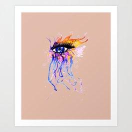 Flamy Watercolor Eye Art Print