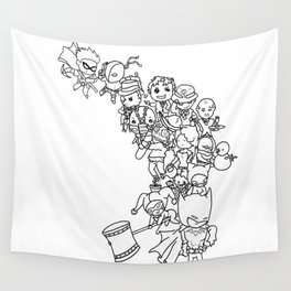 The Hero This City Deserves (Ink) Wall Tapestry