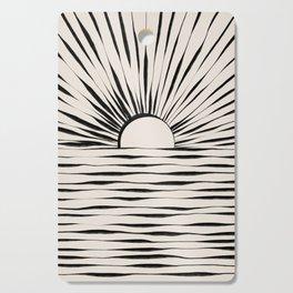 Minimal Sunrise / Sunset Cutting Board