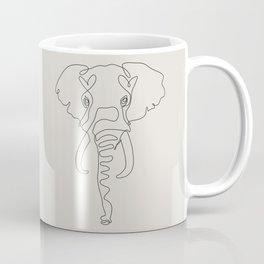 One Line Elephant Coffee Mug