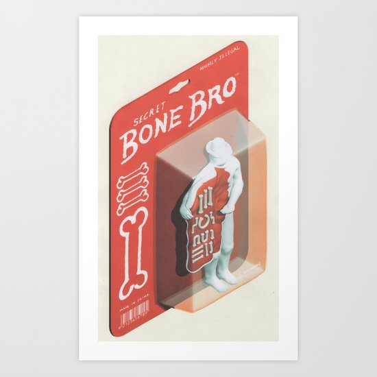 Secret Bone Bro  Art Print