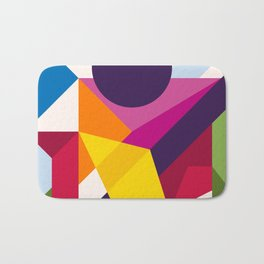 Abstract modern geometric background. Composition 8 Bath Mat