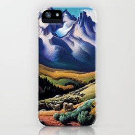 American Masterpiece 'The Sheep Herder' by Thomas Hart Benton iPhone Case