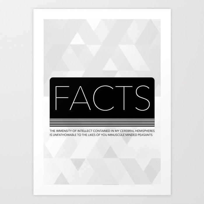 FACTS | Light Art Print