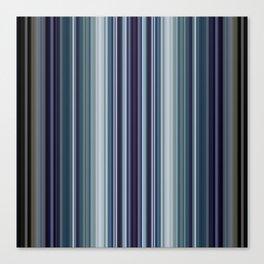 Classic Blue Decorative Stripes Canvas Print