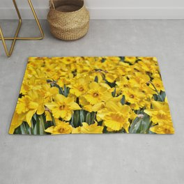 Yellow Narcissus Flowers Rug