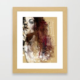 about women Framed Art Print